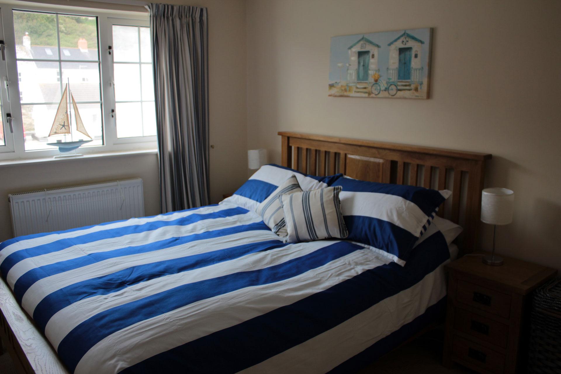 Master bedroom overlooking the harbour